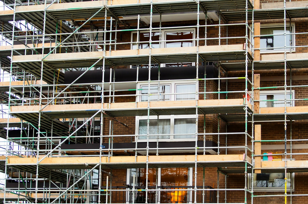 scaffold buildings repairing